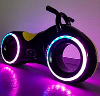 Беговел Star One Scooter, ТРОН Bluetooth LED-подсветка Black