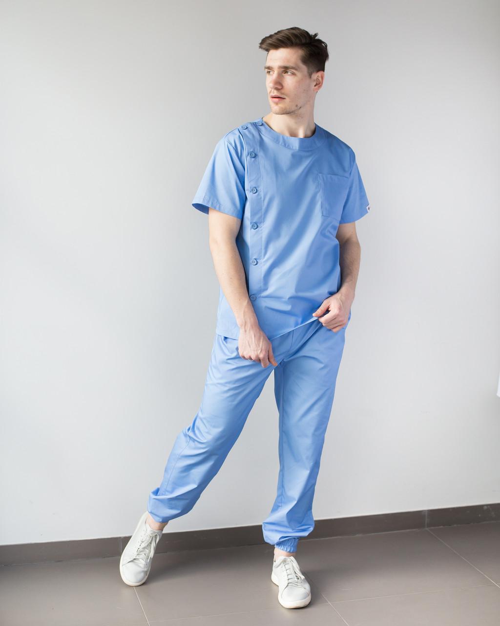 Медицинский мужской костюм Техас голубой