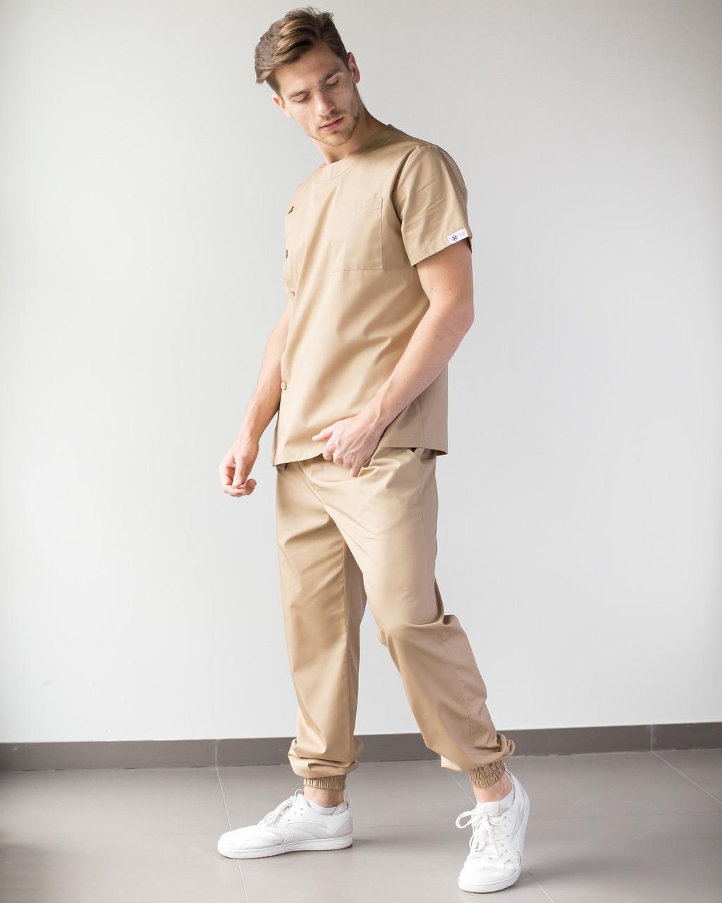 Медицинский мужской костюм Техас песочный