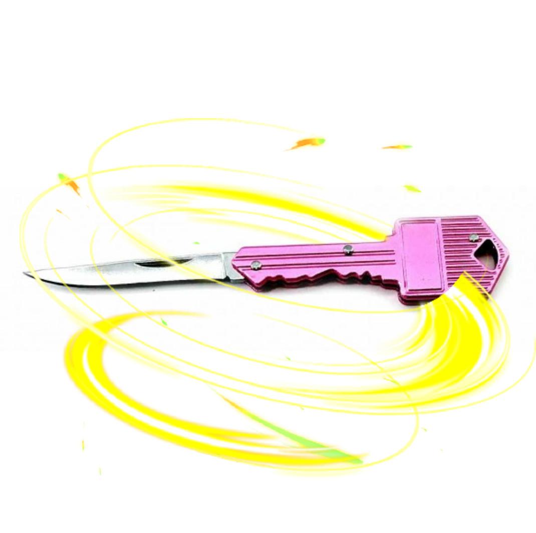 Нож складной Ключ. Очень острый! Брелок. Яркий