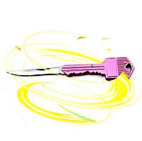 Нож складной Ключ. Очень острый! Брелок. Яркий, фото 1