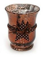 Подсвечник - античная медь, с декором