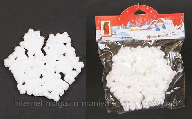 Набор елочных украшений (3) Снежинка, 12.5см
