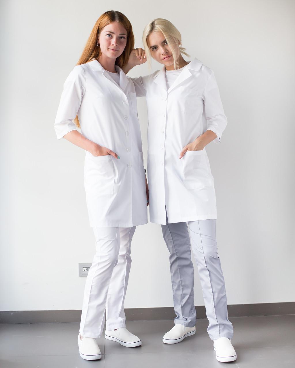 Медицинский халат Студент белый