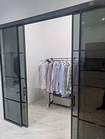 Раздвижная перегородка с затемненным стеклом Планибель в гардеробную, фото 1