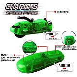 Світяться трубопровідні гонки CHARIOTS SPEED PIPES / трубопровідний автотрек / гоночний трек (37 деталей), фото 7
