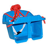 Дитяча гойдалка Малюк Технок 3015 Блакитна   гойдалка для дитини   пластикова підвісна гойдалка, фото 6