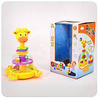 Детская игрушечная юла Жираф с погремушками SL83058-59-60 | игрушка для самых маленьких, фото 1