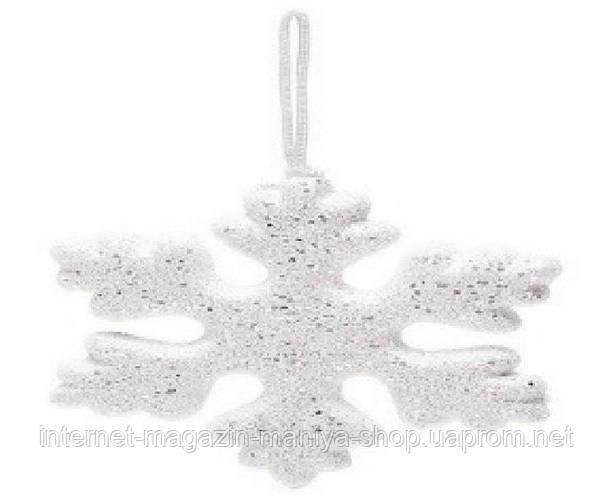 Новогодний декор Снежинка, 15см
