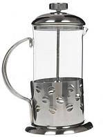 Френч-пресс для заваривания Benson BN-171 (600 мл) нержавеющая сталь + стекло   заварник   заварочный чайник, фото 1