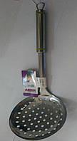 Шумовка из нержавеющей стали Benson BN-255 | столовые приборы | кухонные ложки | ложка из нержавейки, фото 1