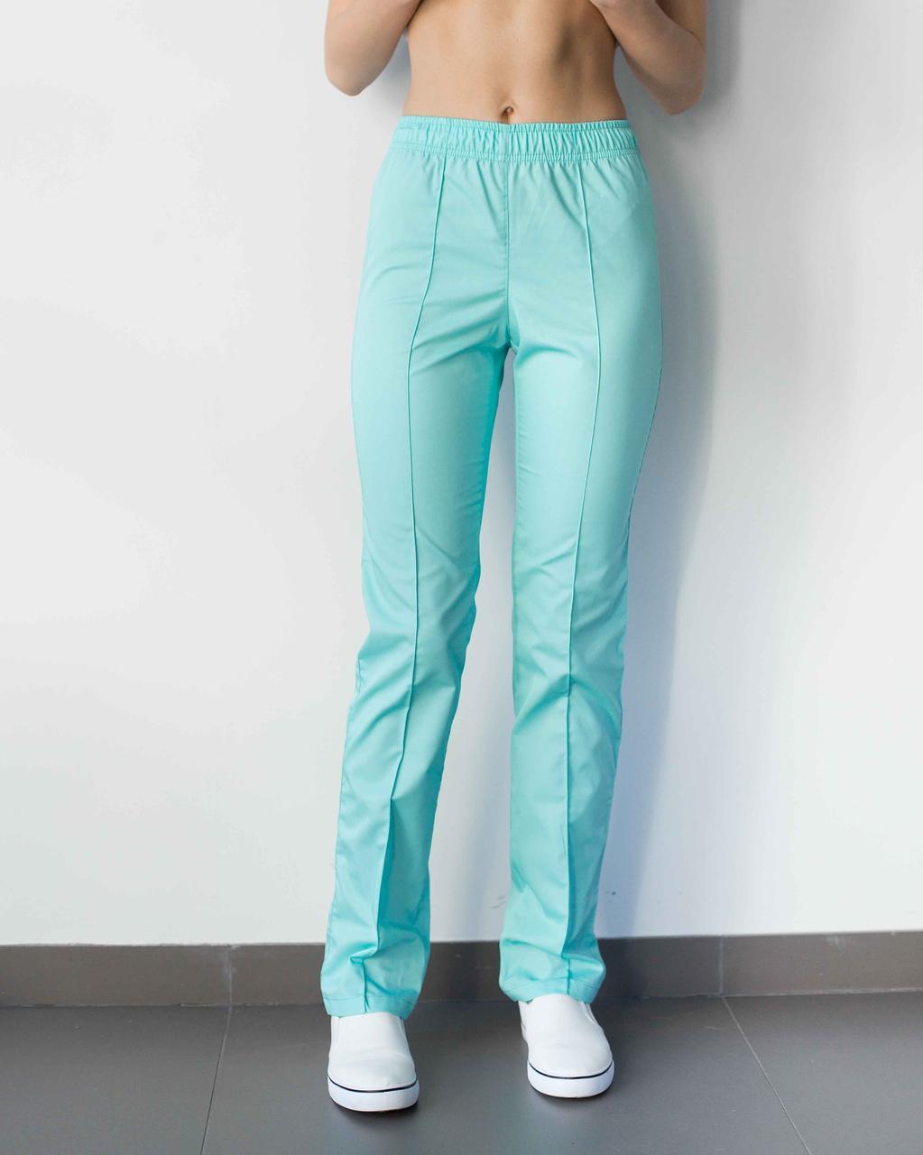 Медицинские женские брюки мятные