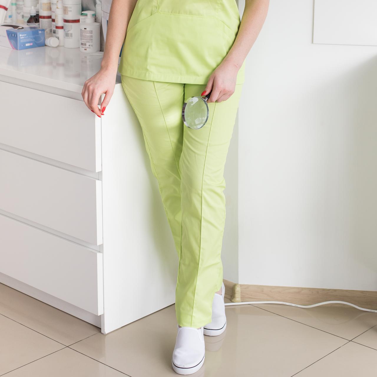 Медицинские женские брюки лайм