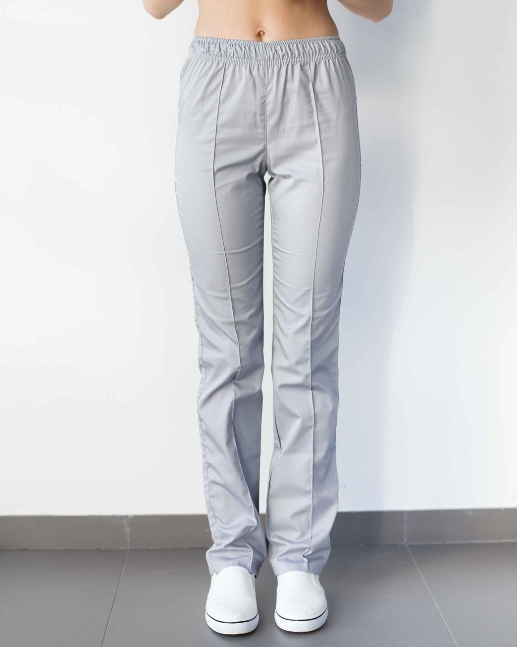Медицинские женские брюки светло-серые