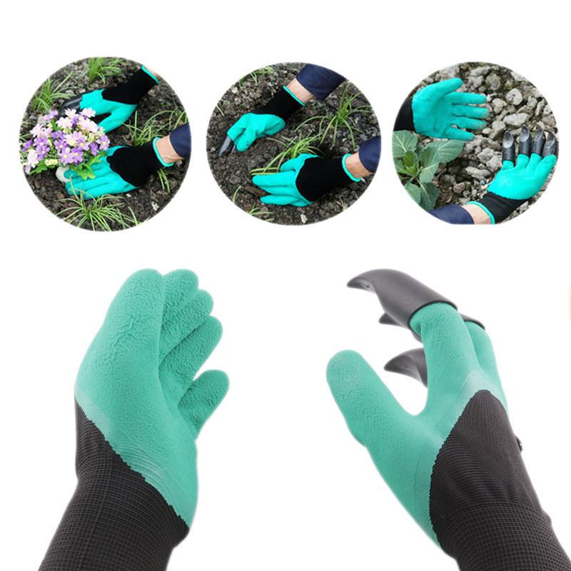 Перчатки с когтями для сада и огорода Garden Genie Gloves