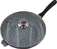 Сковорода литая WOK с антипригарным гранитным покрытием Benson BN-521 (28*7см) | сковородка вок, фото 1