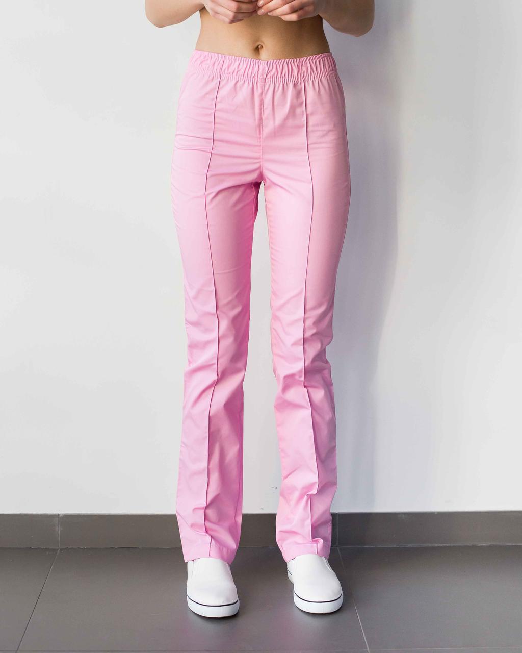 Медицинские женские брюки розовые