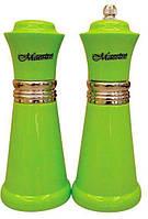 Набор соль/перец MAESTRO MR-1626 зеленый | набор для специй Маэстро | солонка и перечница Маестро