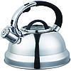 Чайник со свистком из нержавеющей стали Benson BN-708 (3 л), нейлоновая ручка, индукция | свистящий чайник