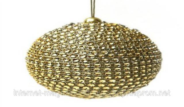 Елочный шар, 8см, цвет - золото