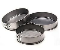 Набор разъемных круглых форм для выпечки Maestro MR-1105 | формы для выпекания 3 шт Маэстро, Маестро