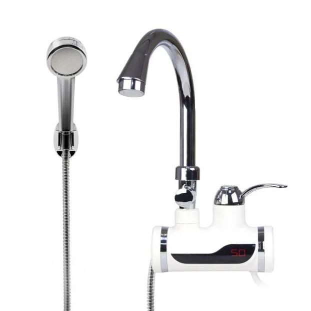 Проточный водонагреватель с душем Delimano| Боковое подключение