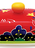 Масленка керамическая Maestro MR-20007-45   тарелка с крышкой для масла Маэстро, емкость под масло Маестро, фото 2