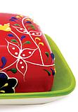 Масленка керамическая Maestro MR-20007-45   тарелка с крышкой для масла Маэстро, емкость под масло Маестро, фото 4