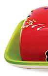 Масленка керамическая Maestro MR-20007-45   тарелка с крышкой для масла Маэстро, емкость под масло Маестро, фото 5