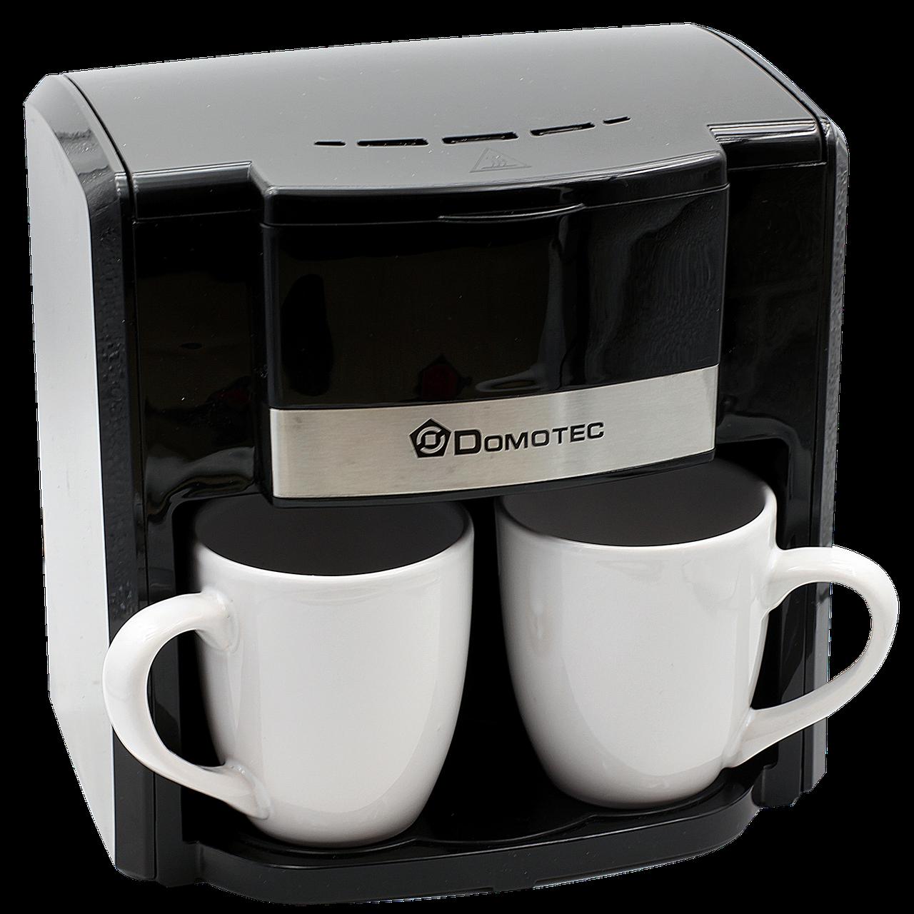 Кофеварка Domotec MS 0708 + 2 чашки 220V | кофемашина Домотек 500Вт 300мл