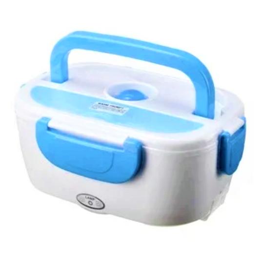 Електричний ланч-бокс з підігрівом Benson BN-035 блакитний | контейнер для їжі Бенсон | ланчбокс Бэнсон