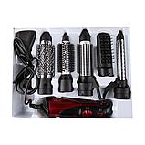 Професійний фен для сушіння волосся 6 в 1 Kemei CFJ-KM-584 | повітряний стайлер для укладання волосся, фото 4