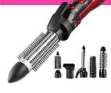 Професійний фен для сушіння волосся 6 в 1 Kemei CFJ-KM-584 | повітряний стайлер для укладання волосся, фото 6