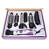 Професійний фен для сушіння волосся 7 в 1 Kemei CFJ-KM-585 | повітряний стайлер для укладання волосся, фото 4