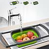 Складной дуршлаг Benson BN-091 | силиконовый друшлаг для мытья овощей и фруктов Бенсон | друшлак Бэнсон