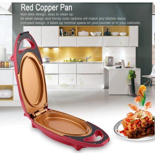 Инновационная электросковорода Red Copper 5 minuts chef   электрическая скороварка для вторых блюд