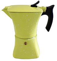 Гейзерная кофеварка из литого алюминия на 3 чашки Benson BN-147 салатовая | турка Бенсон, Бэнсон, фото 1
