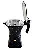 Гейзерная кофеварка из литого алюминия на 6 чашек Benson BN-148 черная | турка Бенсон, Бэнсон