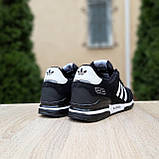 Мужские кроссовки Adidas ZX 750 Чёрные с белым, фото 5