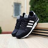 Мужские кроссовки Adidas ZX 750 Чёрные с белым, фото 7