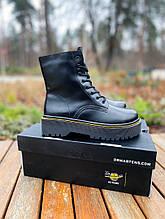 Женские ботинки Dr.Martens Jadon Black Premium (FUR)