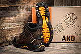 Мужские зимние кожаные ботинки Columbia NS Chocolate, фото 2