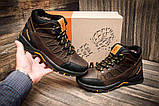 Мужские зимние кожаные ботинки Columbia NS Chocolate, фото 5