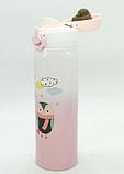 Термос з нержавіючої сталі Benson BN-081 (350 мл) білий | термочашка Бенсон | термокружка Бэнсон, фото 2