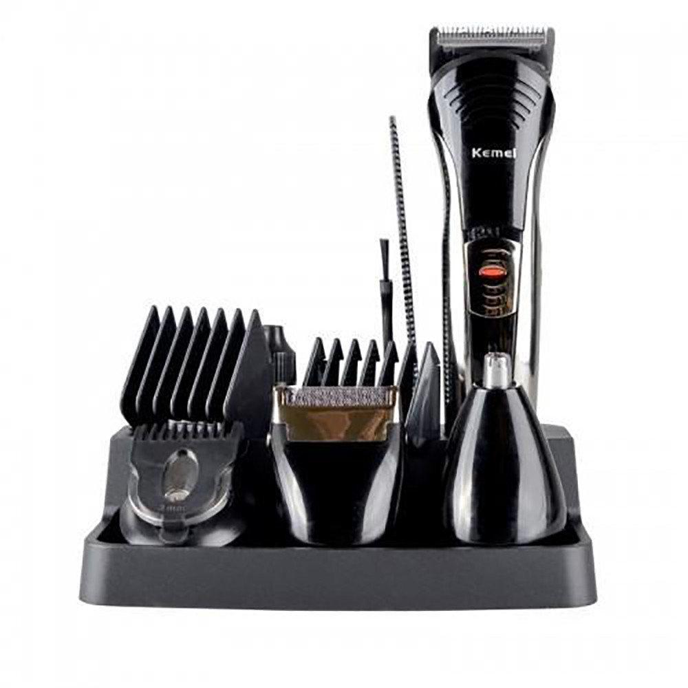 Профессиональная машинка для стрижки волос с насадками Kemei LFQ-KM-590A   триммер для волос