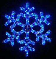 Лента LED снежинка 4м (Микс) 7193, Новогодняя бахрама, Светодиодная гирлянда, Уличная гирлянда, фото 1