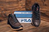 Мужские  зимние кожаные кроссовки  Fila Brown Classic, фото 8