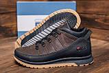 Мужские  зимние кожаные кроссовки  Fila Brown Classic, фото 9