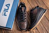 Мужские  зимние кожаные кроссовки  Fila Brown Classic, фото 10