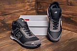Мужские зимние кожаные кроссовки NB Clasic Black, фото 7